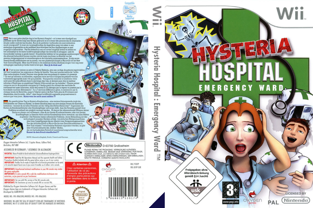Hysteria Hospital: Emergency Ward Wii coverfullHQ (RJVPGN)