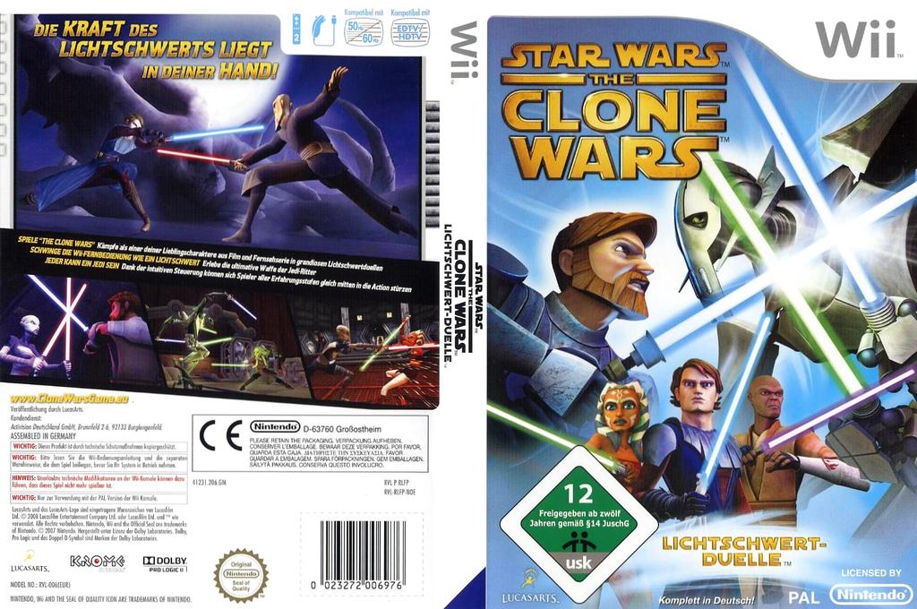 Star Wars The Clone Wars: Lichtschwertduelle Wii coverfullHQ (RLFP64)