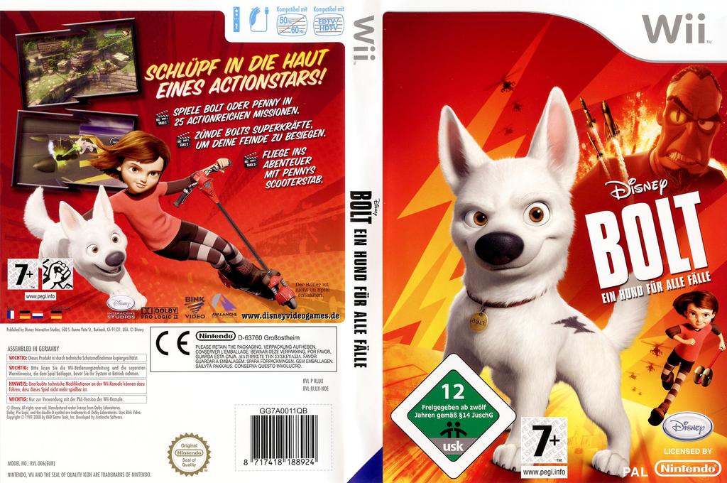 Bolt: Ein Hund für alle Fälle! Wii coverfullHQ (RLUX4Q)
