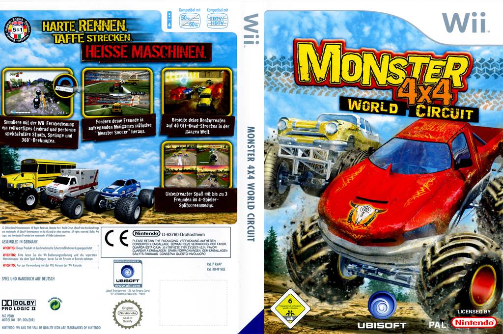 Monster 4x4: World Circuit Wii coverfullHQ (RM4P41)