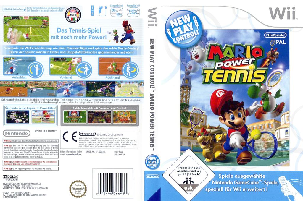 Mario Power Tennis Wii coverfullHQ (RMAP01)