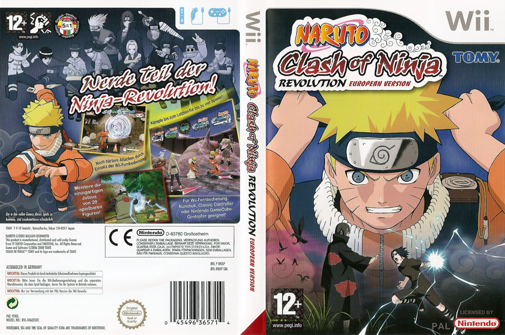 Naruto: Clash of Ninja Revolution Wii coverfullHQ (RNXPDA)