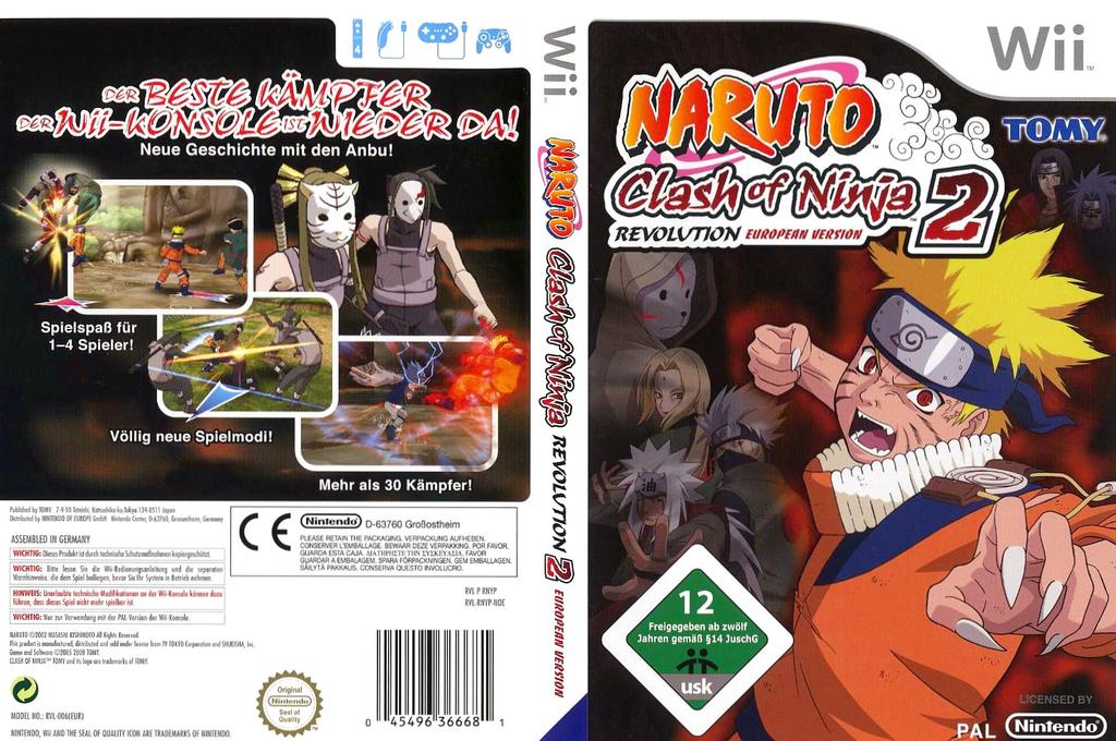 Naruto: Clash of Ninja Revolution 2 Wii coverfullHQ (RNYPDA)