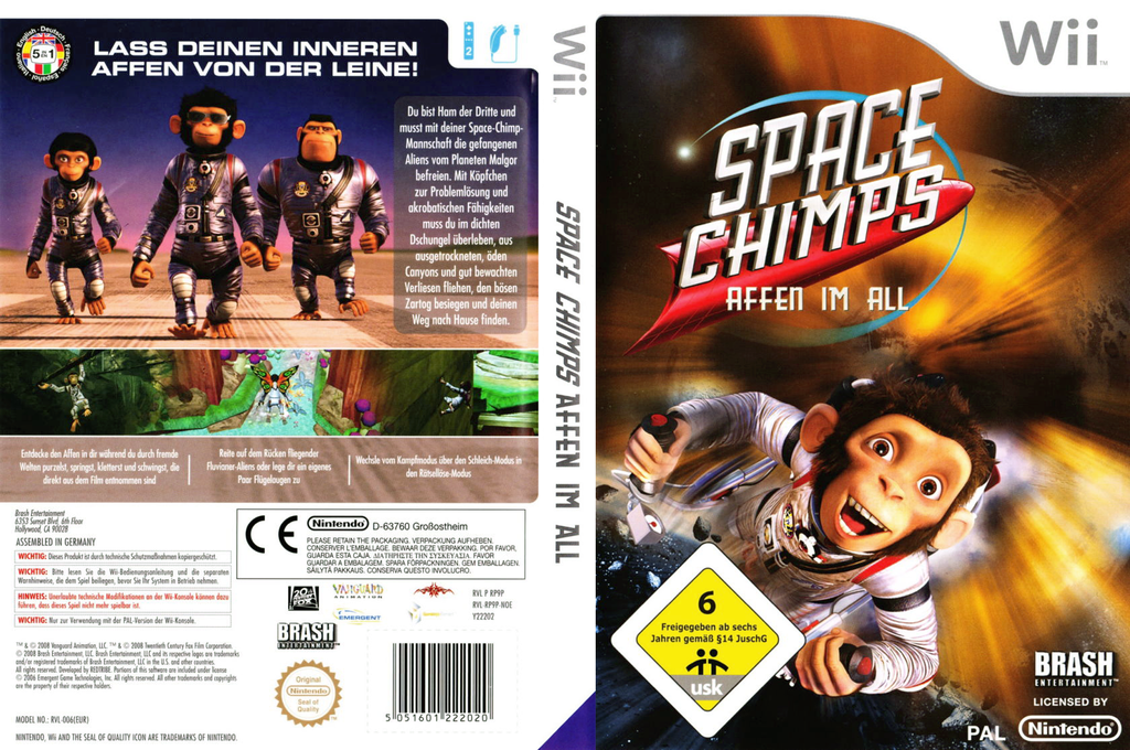 Space Chimps: Affen Im All Wii coverfullHQ (RP9PRS)
