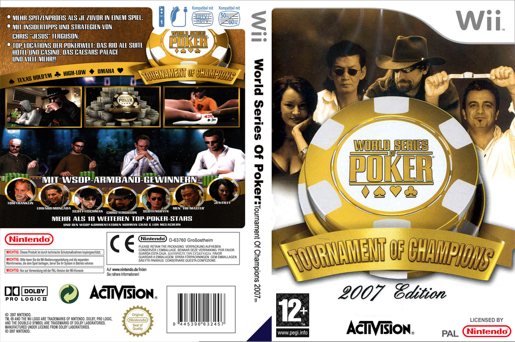 World Series of Poker: Tournament of Champions 2007 Edition Wii coverfullHQ (RPKP52)