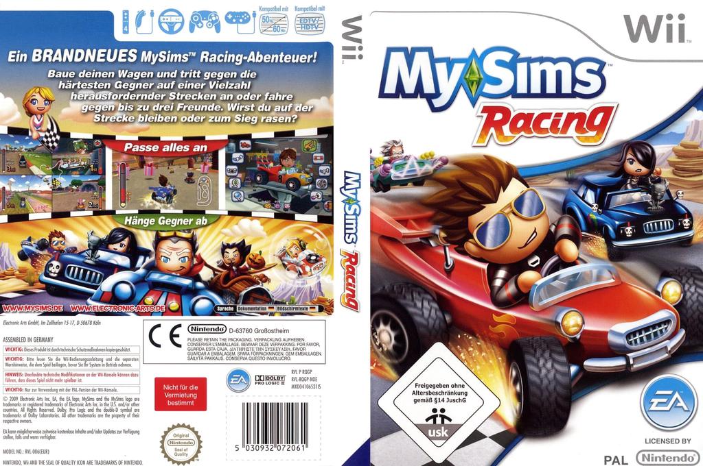 MySims Racing Wii coverfullHQ (RQGP69)