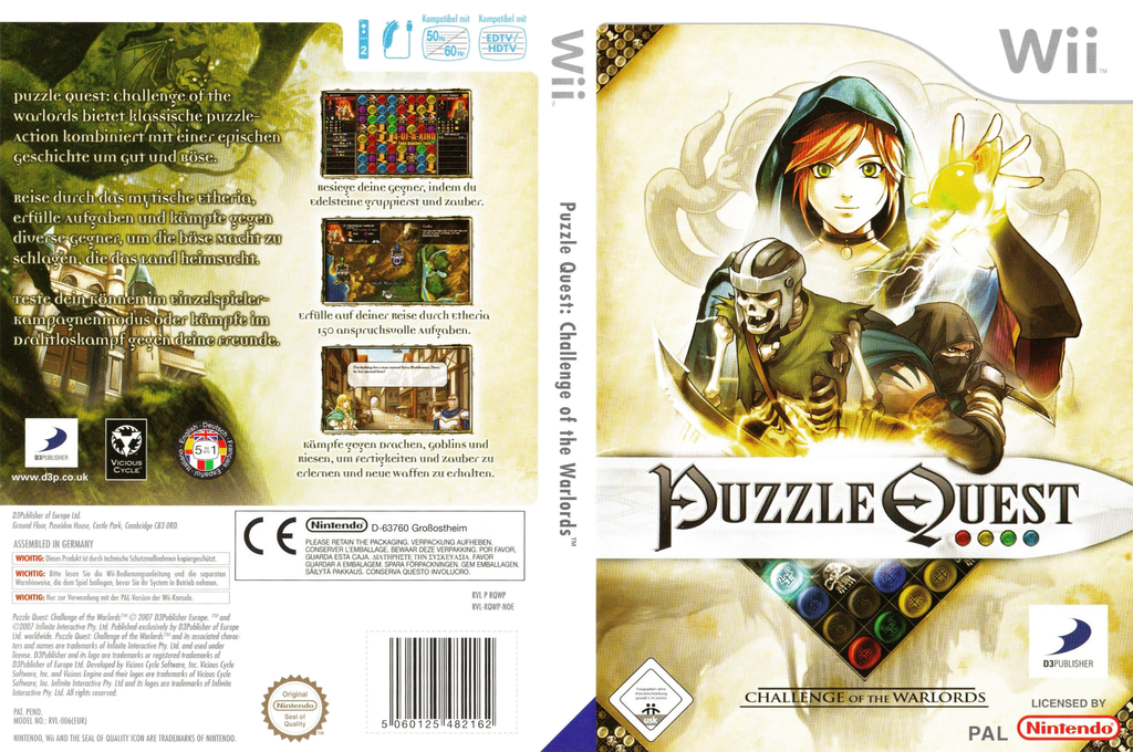 Puzzle Quest - Challenge of the Warlords Wii coverfullHQ (RQWPG9)