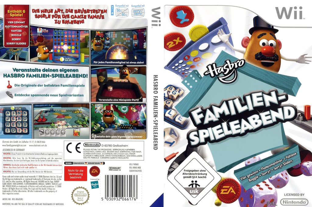Hasbro: Familien-Spieleabend Wii coverfullHQ (RRMX69)