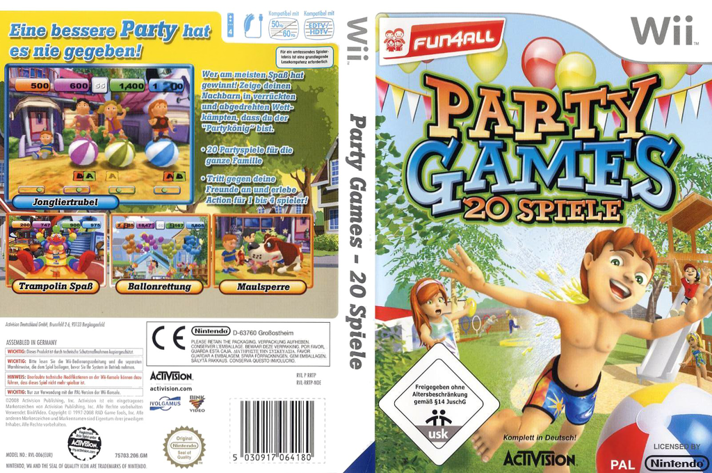 Party Games: 20 Spiele Wii coverfullHQ (RRTP52)