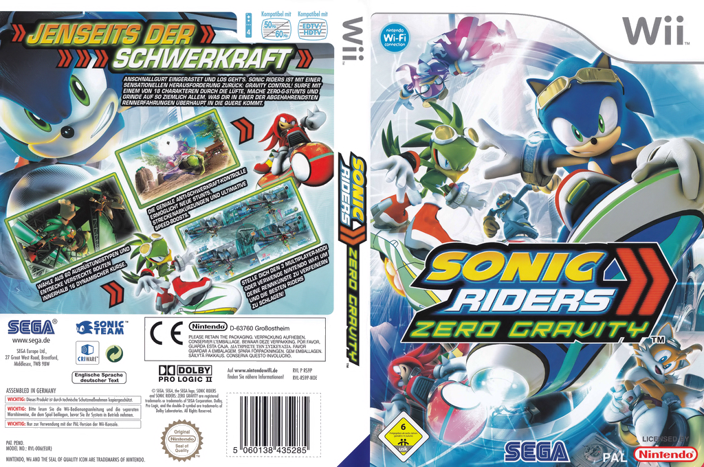 Sonic Riders: Zero Gravity Wii coverfullHQ (RS9P8P)