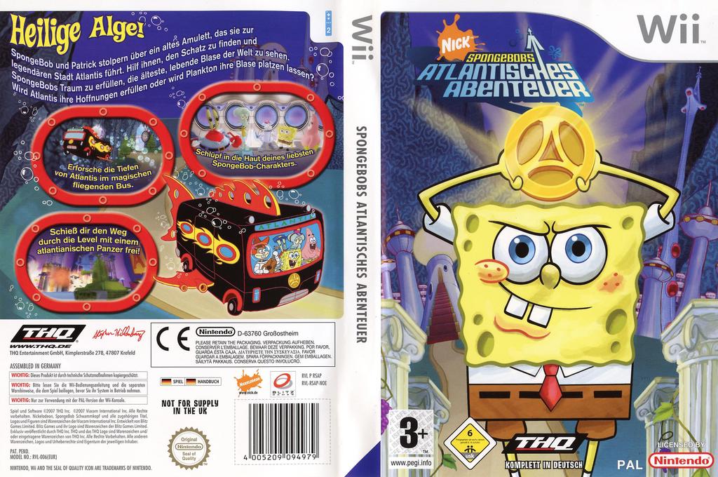 SpongeBob's Atlantisches Abenteuer Wii coverfullHQ (RSAP78)