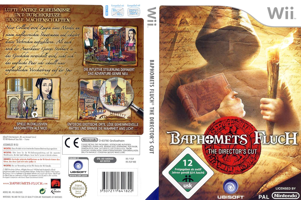 Baphomets Fluch - The Director's Cut Wii coverfullHQ (RSJP41)