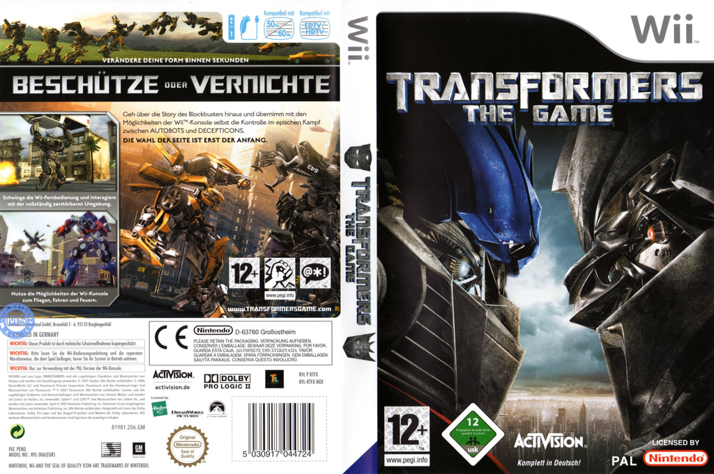 Transformers: The Game Wii coverfullHQ (RTFX52)