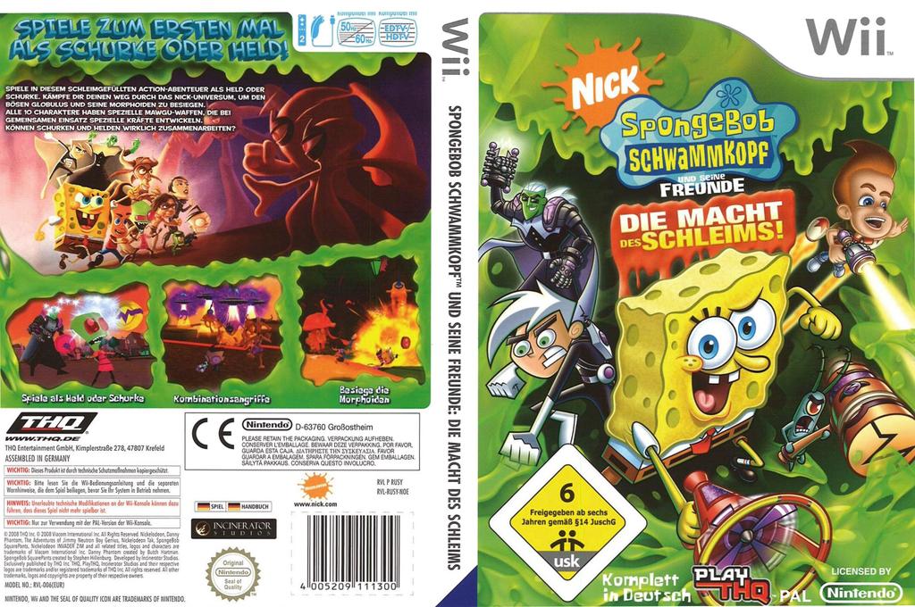 Sponge Bob und seine Freunde: Die Macht des Schleims Wii coverfullHQ (RUSX78)