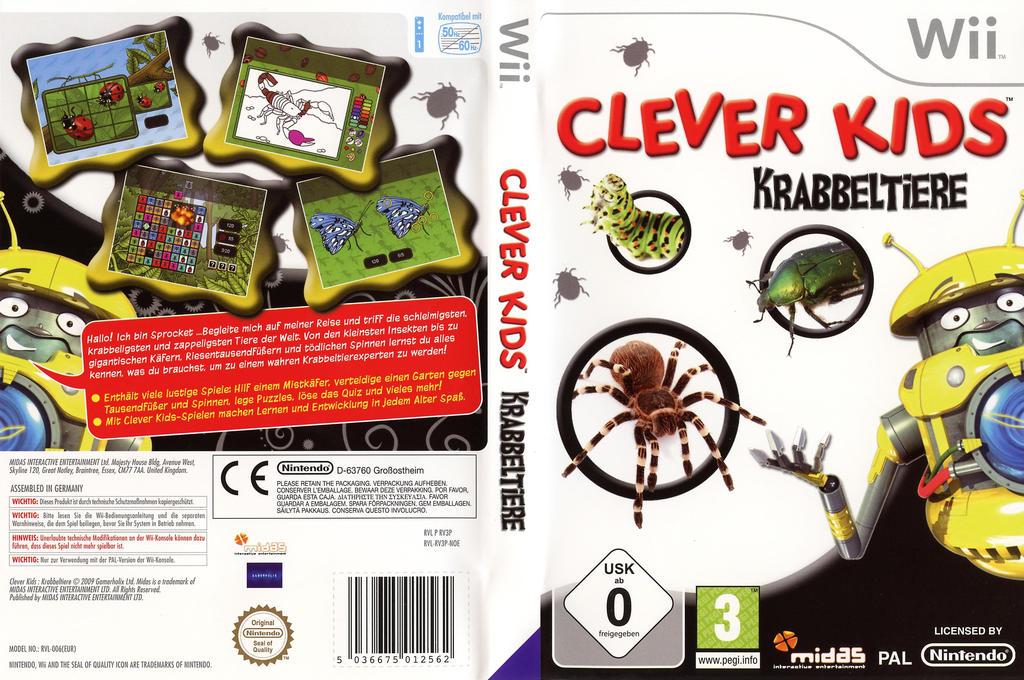Clever Kids: Krabbeltiere Wii coverfullHQ (RV3P6N)