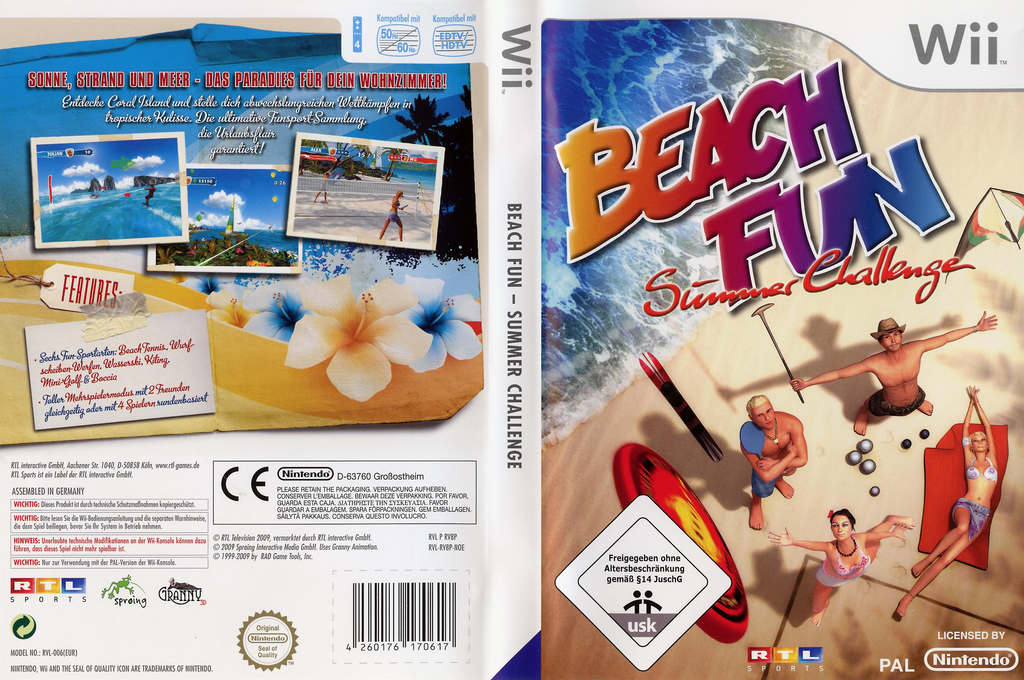 Beach Fun: Summer Challenge Wii coverfullHQ (RV8PRT)
