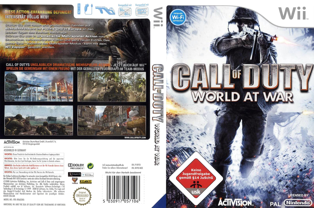 Call of Duty: World at War Wii coverfullHQ (RVYP52)