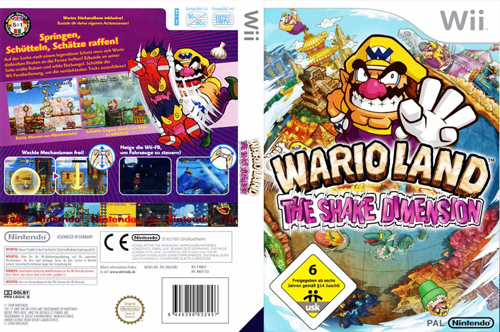 Wario Land: The Shake Dimension Wii coverfullHQ (RWLP01)