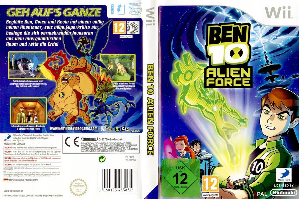 Ben 10: Alien Force Wii coverfullHQ (RWTPG9)
