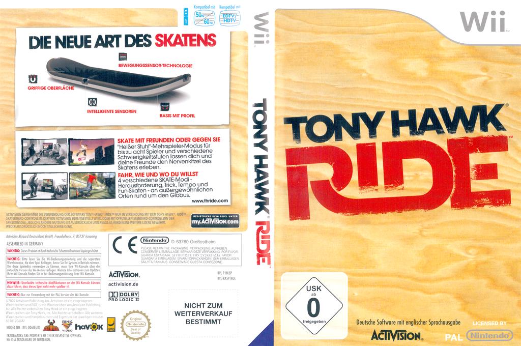 Tony Hawk: Ride Wii coverfullHQ (RX5P52)