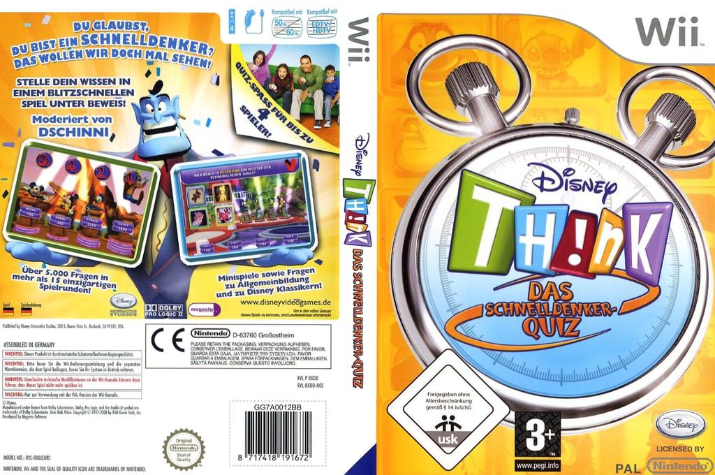 Disney Th!nk - Das Schnelldenker-Quiz Wii coverfullHQ (RXDD4Q)