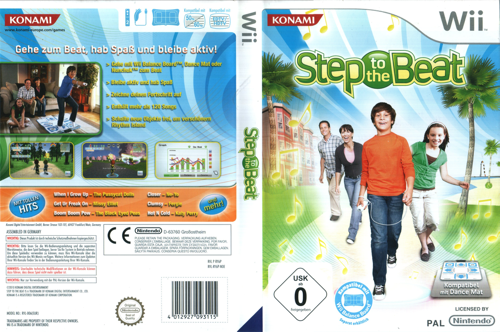 Step to the Beat Wii coverfullHQ (RY6PA4)