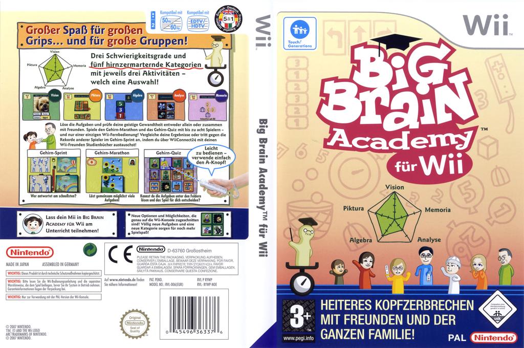 Big Brain Academy für Wii Wii coverfullHQ (RYWP01)