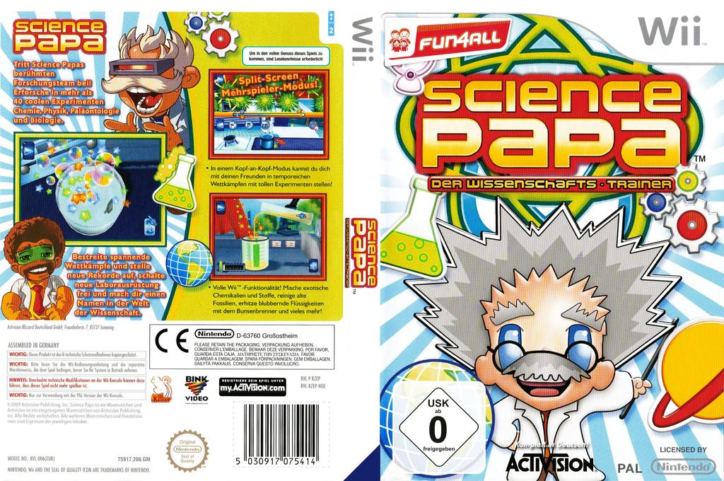 Science Papa: Der Wissenschafts-Trainer Wii coverfullHQ (RZEP52)