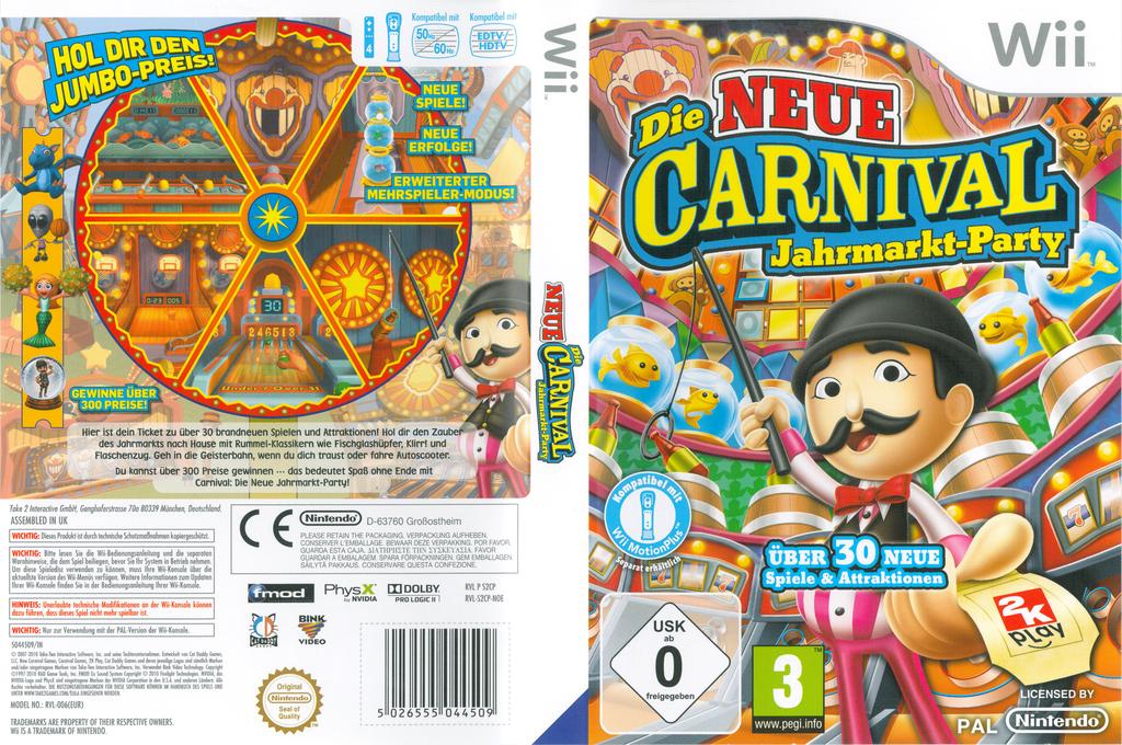 Die Neue Carnival Jahrmarkt-Party Wii coverfullHQ (S2CP54)