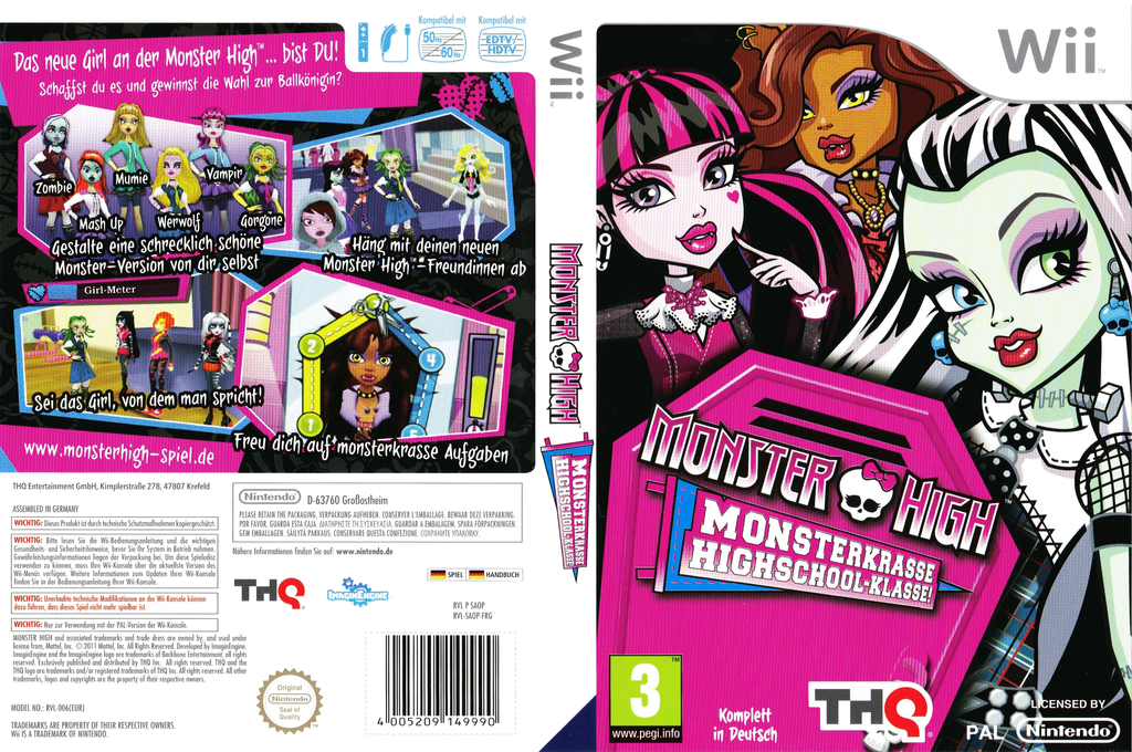 Monster High: Monsterkrasse Highschool-Klasse! Wii coverfullHQ (SAOP78)