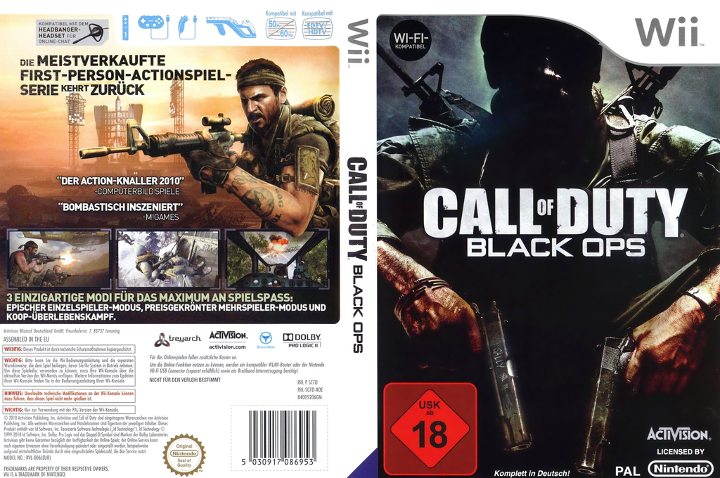 Call of Duty: Black Ops Wii coverfullHQ (SC7P52)