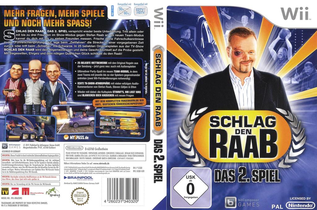Schlag den Raab - Das 2. Spiel Wii coverfullHQ (SCQDRV)