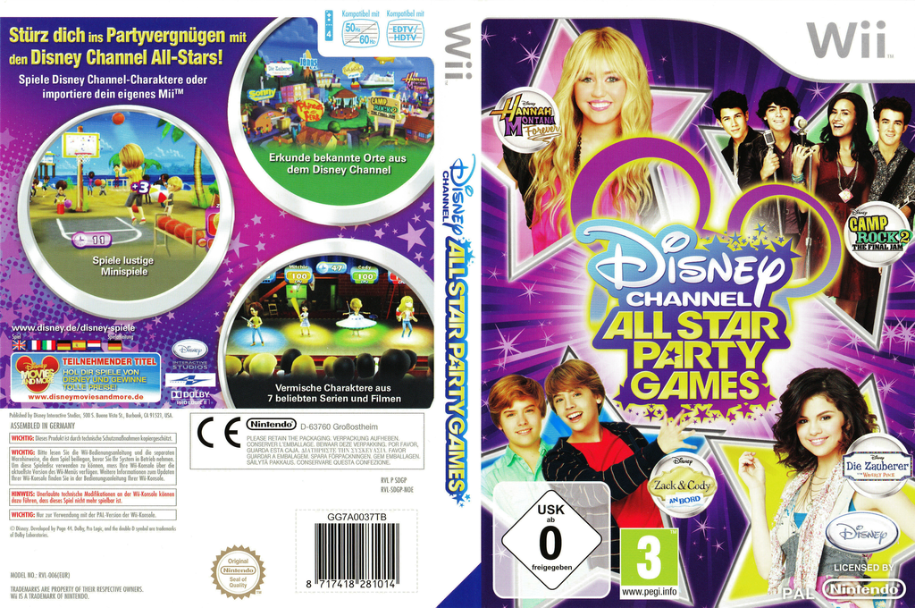 Disney Channel: All Star Party Games Wii coverfullHQ (SDGP4Q)