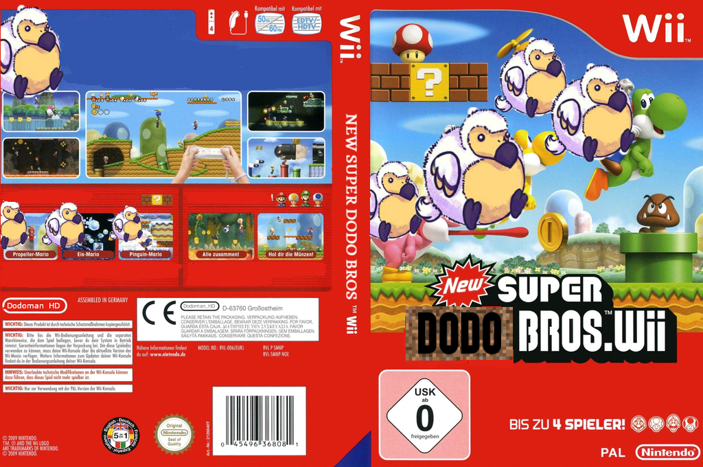 New SUPER DODO BROS wii Wii coverfullHQ (SDNP01)