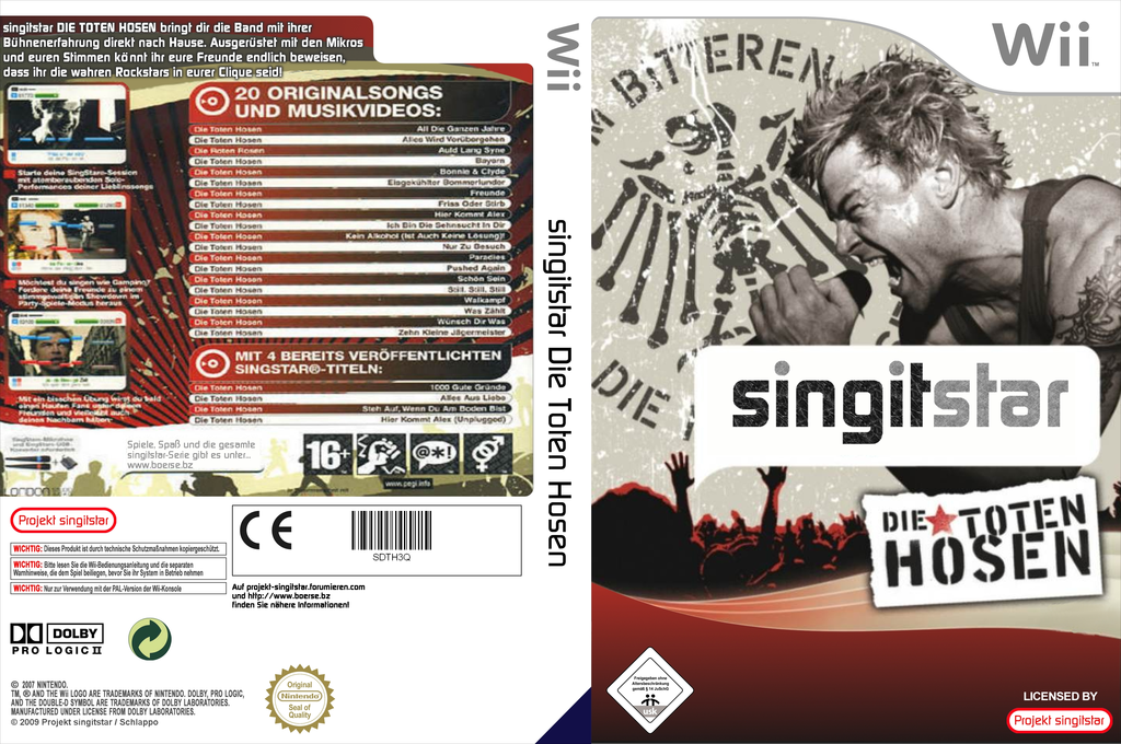 SingItStar Die Toten Hosen Wii coverfullHQ (SDTH3Q)