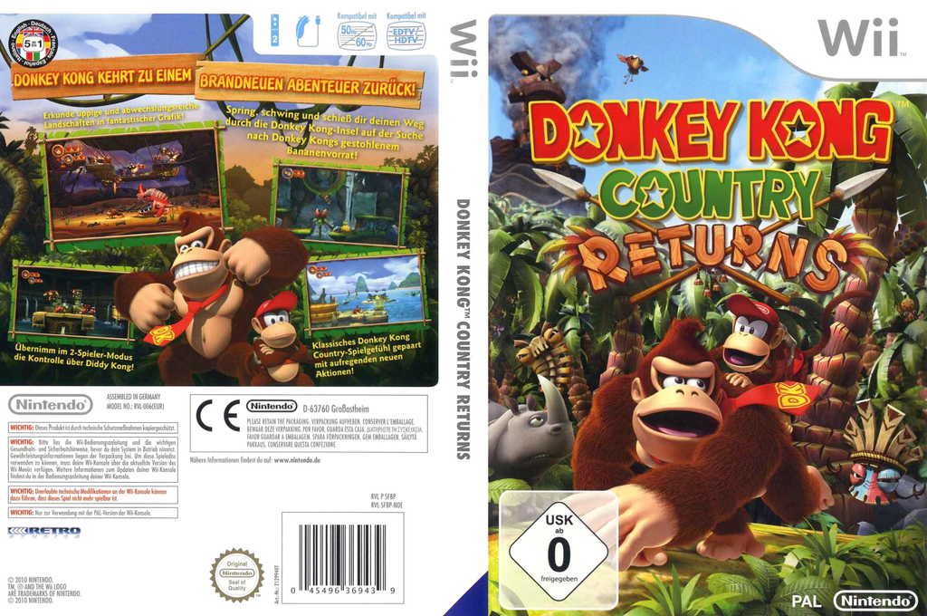 Donkey Kong Country Returns Wii coverfullHQ (SF8P01)