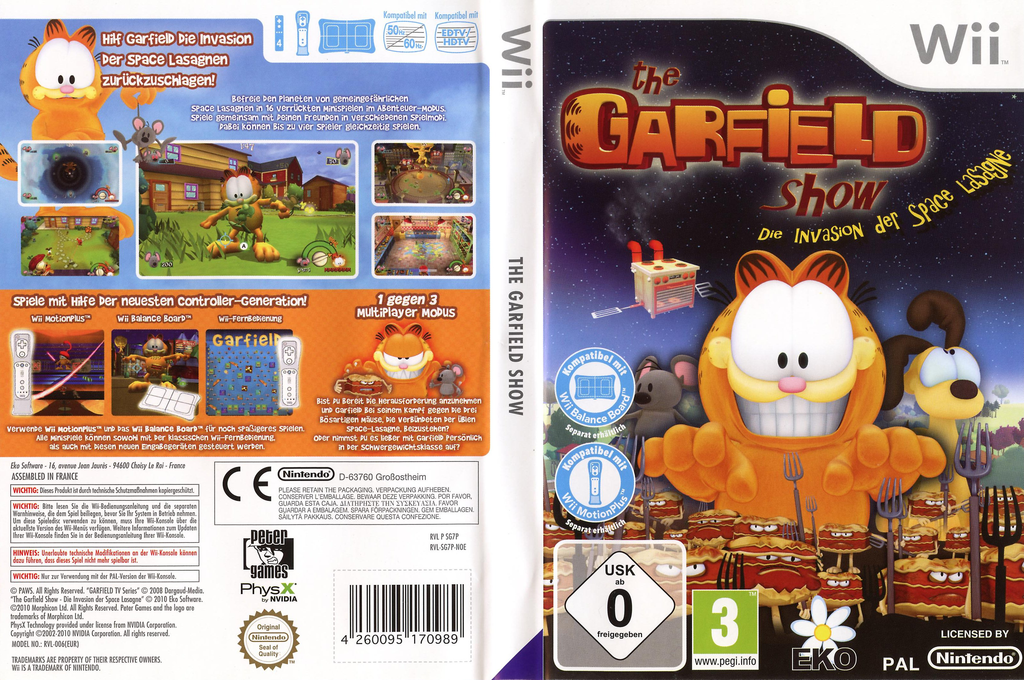 Die Garfield Show - Invasion der Space Lasagne Wii coverfullHQ (SG7PVL)