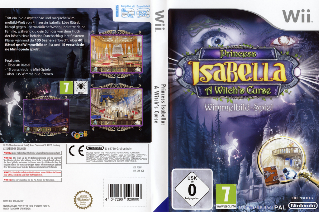Princess Isabella: A Witch's Curse Wii coverfullHQ (SISPUH)