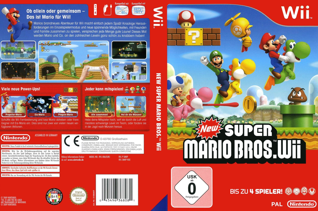 New Super Mario Bros. Wii Wii coverfullHQ (SMNP01)