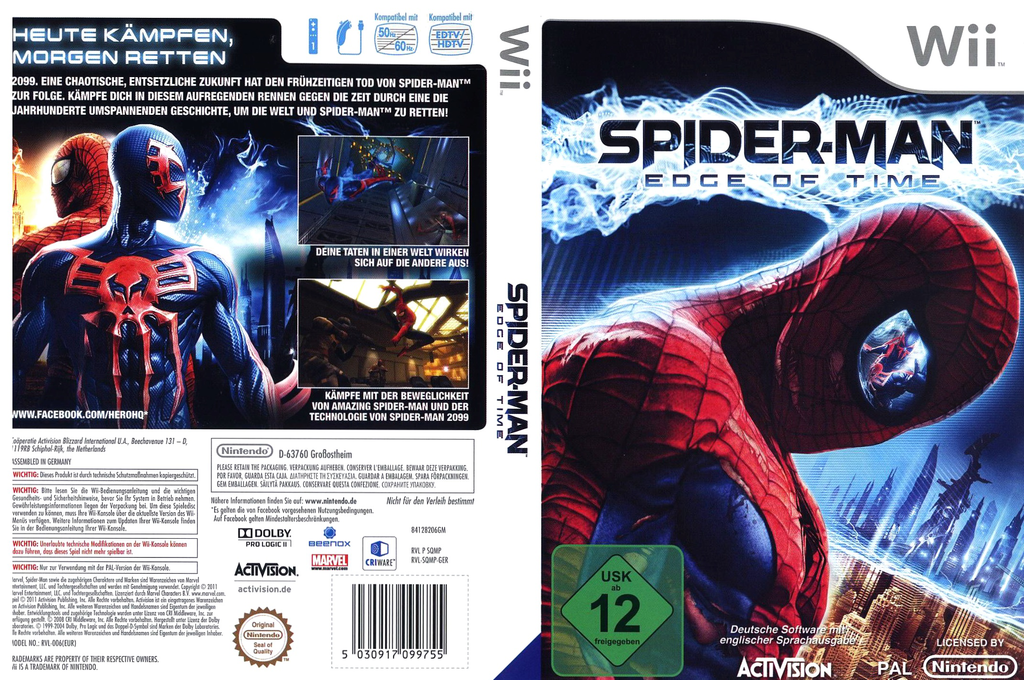 Spider-Man: Edge of Time Wii coverfullHQ (SQMP52)