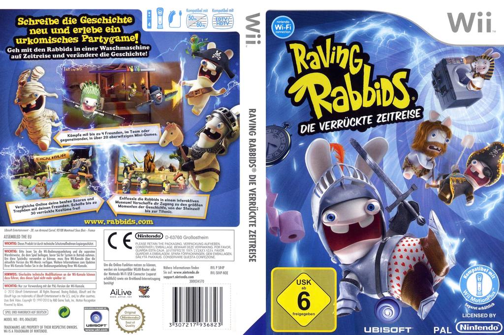 Raving Rabbids: Die verrückte Zeitreise Wii coverfullHQ (SR4P41)
