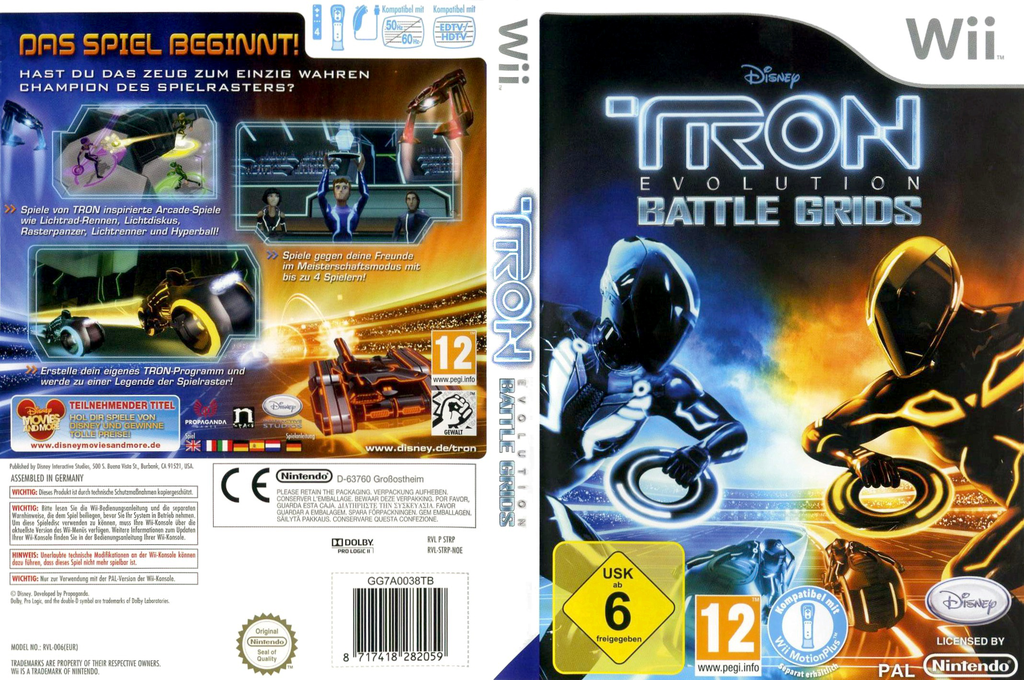 Tron: Evolution - Battle Grids Wii coverfullHQ (STRP4Q)