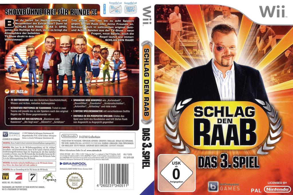 Schlag den Raab - Das 3. Spiel Wii coverfullHQ (SUYDRV)