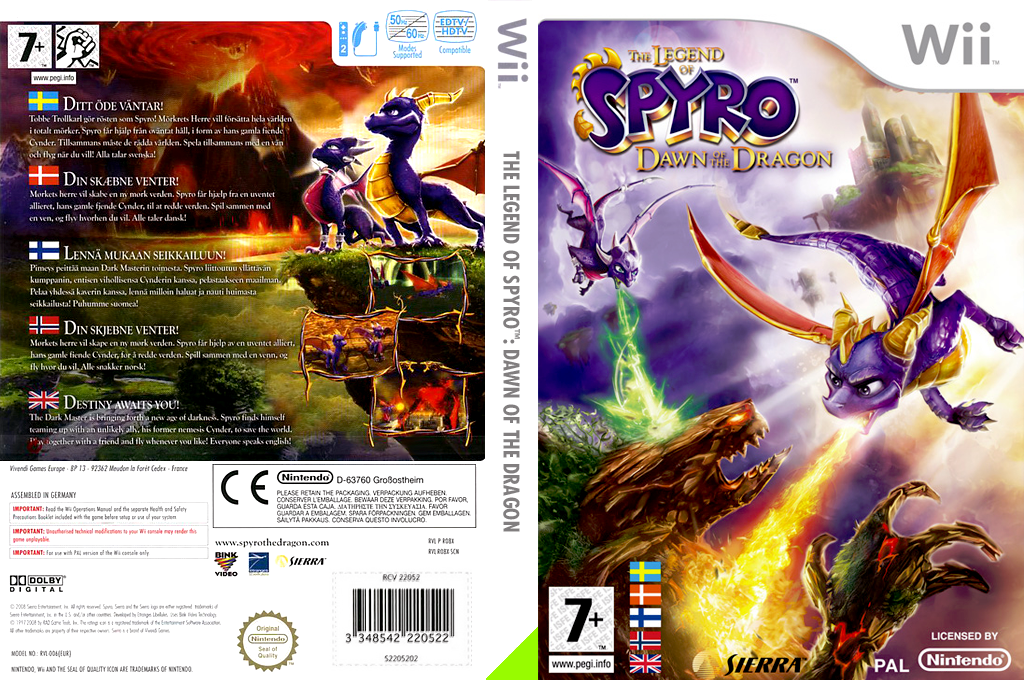 The Legend of Spyro: Dawn of the Dragon Wii coverfullHQ (RO8X7D)