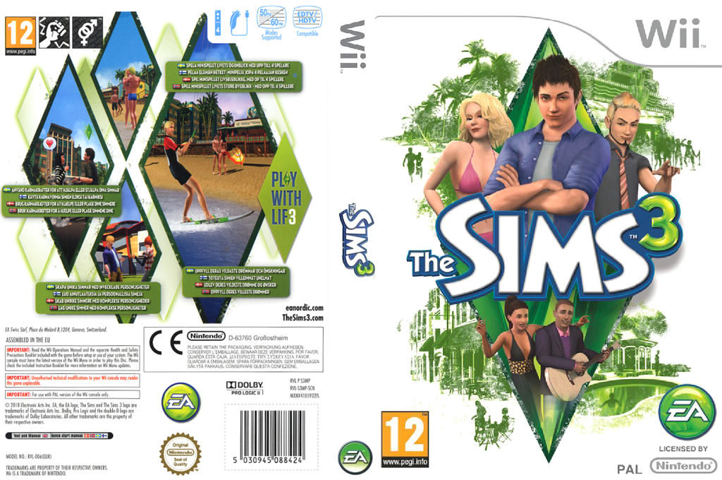 The Sims 3 Wii coverfullHQ (S3MP69)