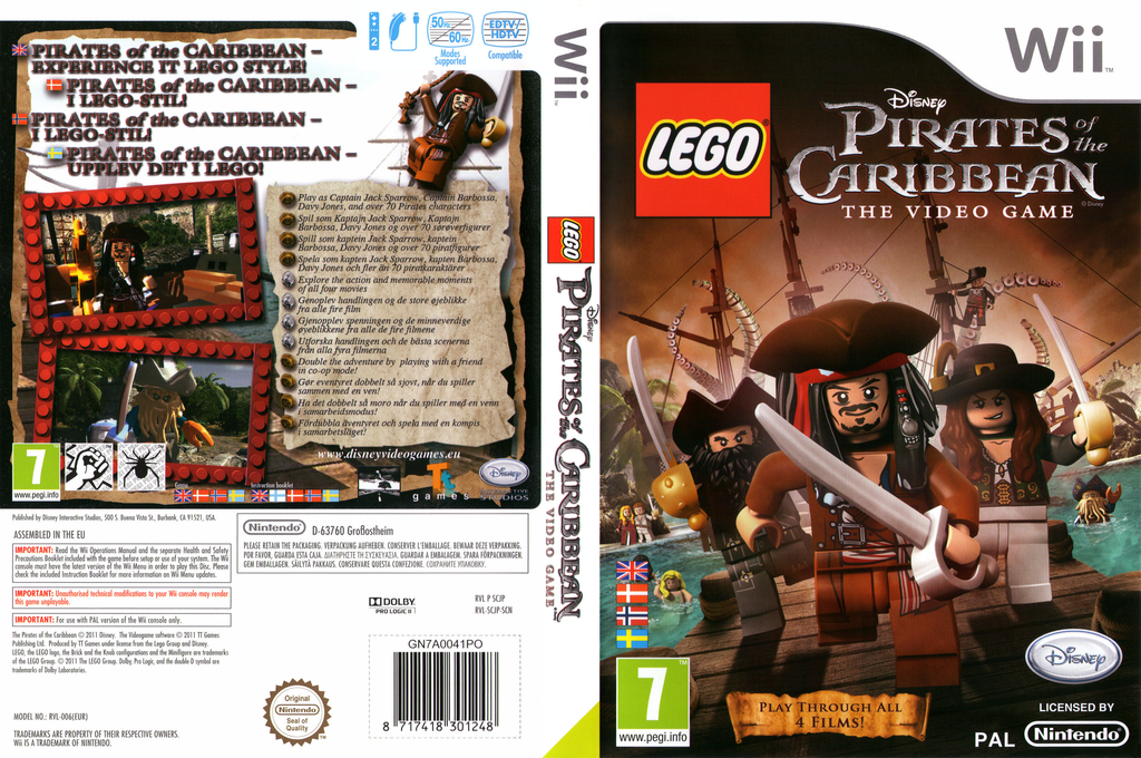 LEGO Pirates of the Caribbean: The Video Game Wii coverfullHQ (SCJP4Q)