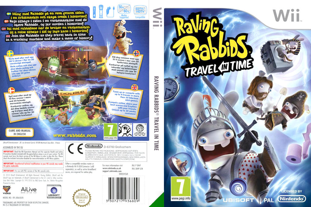 Raving Rabbids: Travel in Time Wii coverfullHQ (SR4P41)
