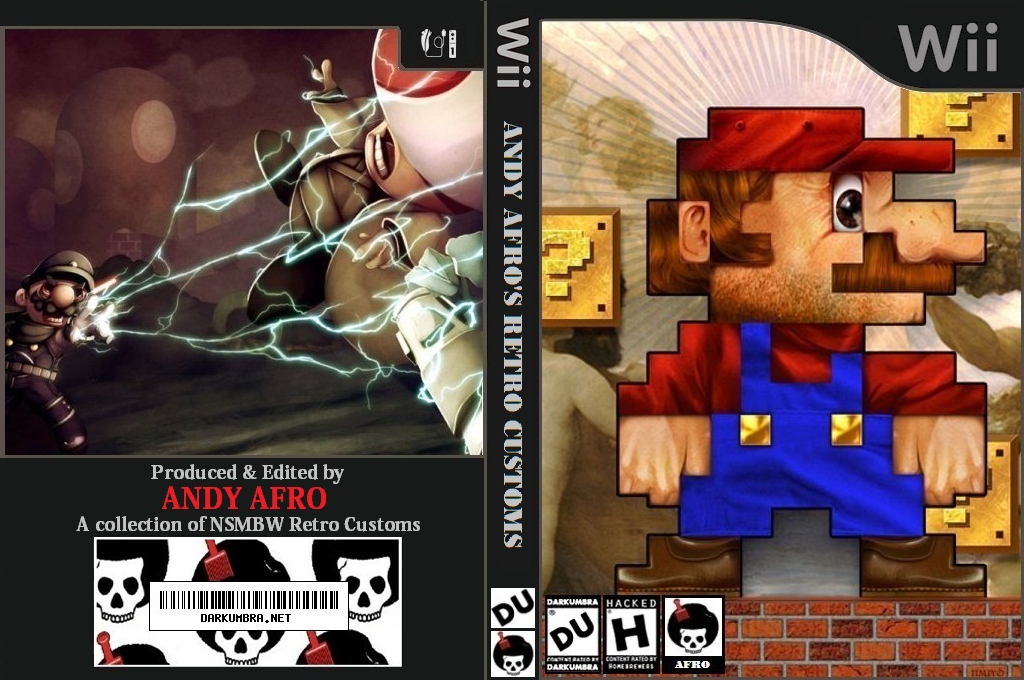 New Super Mario Bros. Wii ANDY AFRO'S Custom Collection Volume 2. Wii coverfullHQ (APRP01)