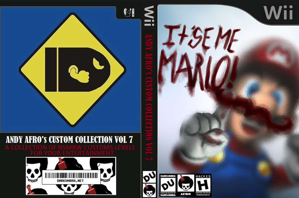 New Super Mario Bros. Wii ANDY AFRO'S Custom Collection Volume 7. Wii coverfullHQ (APRP04)