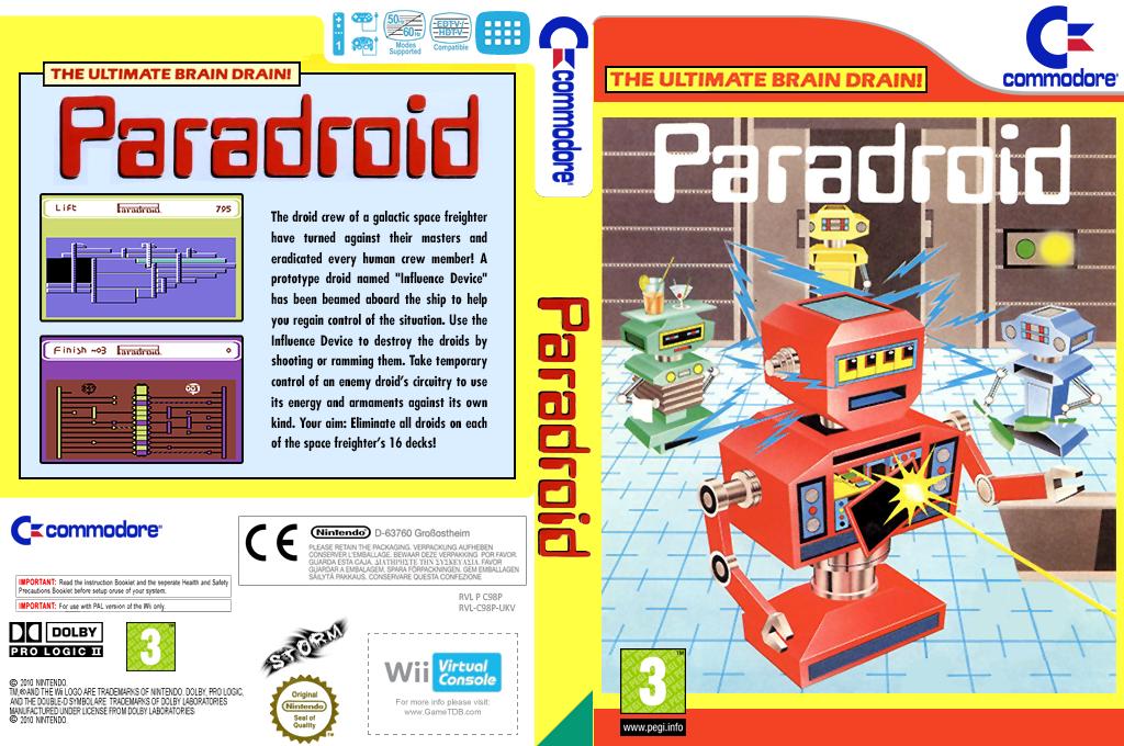 Paradroid Wii coverfullHQ (C98P)